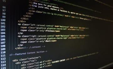 Ekran komputera z kodem CSS