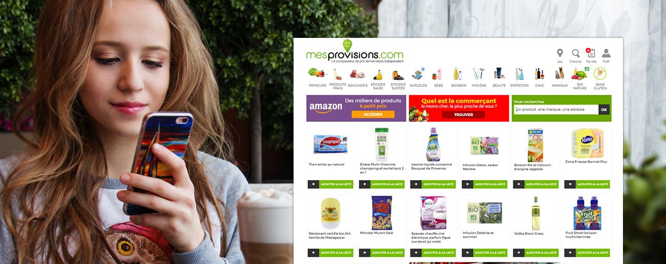 Slajd promocyjny porównywarki mesprovisions.com