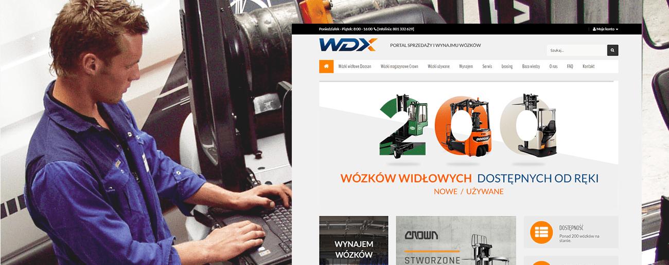 Slajd promocyjny sklepu WDX